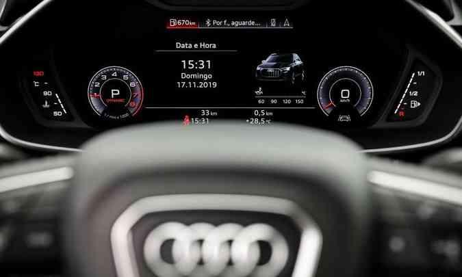 O Virtual Cockpit ganhou nova configuração, ficando ainda mais funcional(foto: Chris Castanho/Audi/Divulgação)