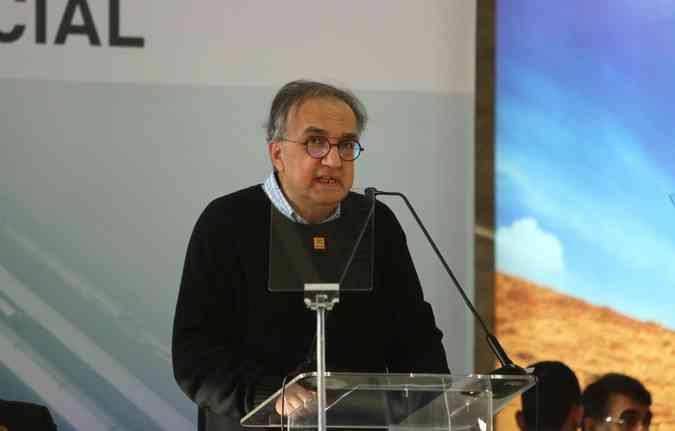 Sergio Marchionne em visita à fábrica da Fiat em março deste ano. Foto: Peu Ricardo/DP(foto: Foto: Peu Ricardo/DP)