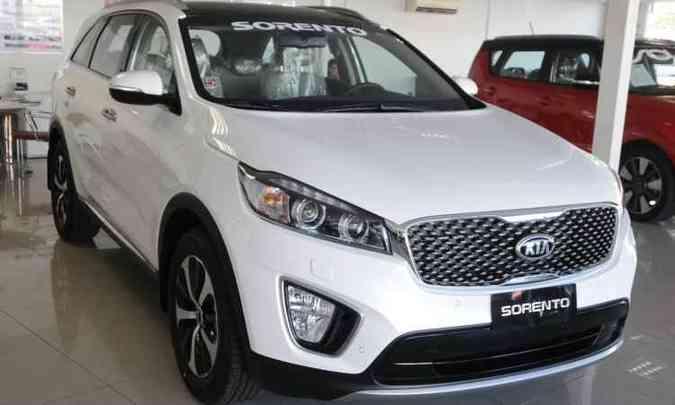 Novo Kia Sorento já está à venda na concessionária Automark de Belo Horizonte(foto: Ramon Lisboa/EM/D.A Press)