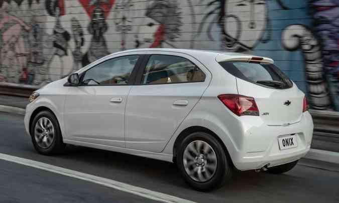 Com bom pacote de itens de série, o Chevrolet Joy é equipado com rodas de aço de 15 polegadas(foto: Chevrolet/Divulgação)