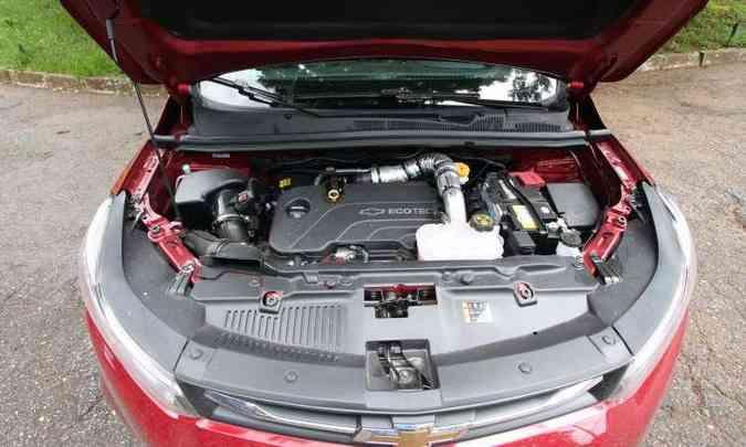 Apesar de entregar bom desempenho, motor 1.4 turbo peca pelo consumo de combustível bastante alto(foto: Edésio Ferreira/EM/D.A Press)