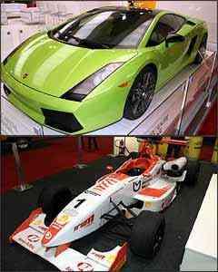 Lamborghini Gallardo e modelo campeão 2007 da Fórmula 3 Sul-Americana - Marlos Ney Vidal/EM (verde)