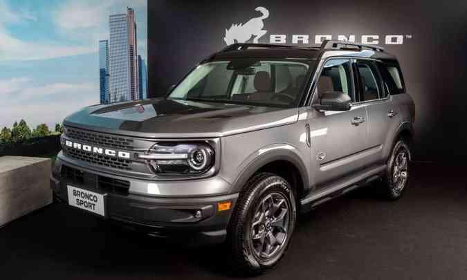 O Ford Bronco Sport chega ao Brasil na versão Wildtrack, importado do México, com carroceria quatro portas(foto: Ford/Divulgação)