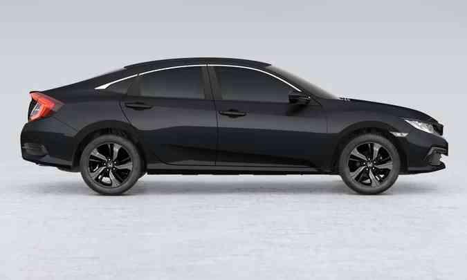 O Honda Civic Sport só chegará em janeiro de 2021, quando seus preços serão revelados(foto: Honda/Divulgação)