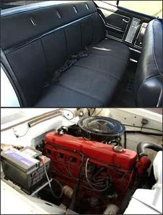 O Opala é equipado com motor seis cilindros e os bancos inteiriços tem bom acabamento.