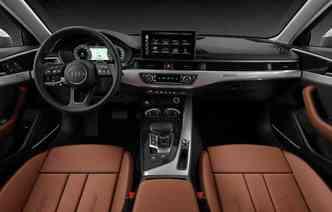 Dentro da cabine destaque para tela de 10,1 polegadas. Foto: Audi/ Divulgação