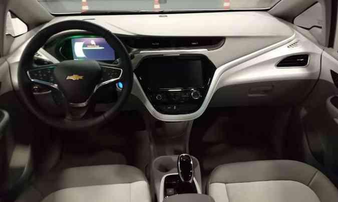 A bateria do Chevrolet Bolt tem 80% de sua carga recarregada em apenas uma hora(foto: Pedro Cerqueira/EM/D.A Press)