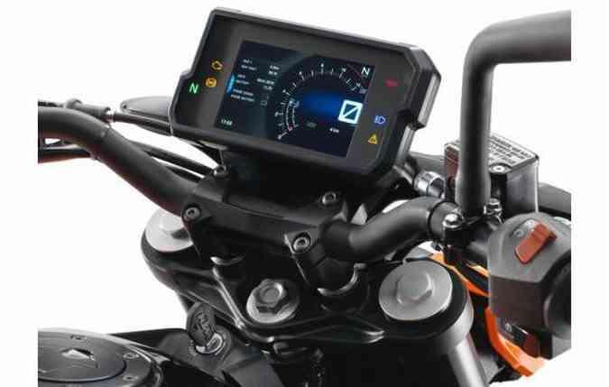 Painel de instrumentos da nova Duke 390(foto: KTM/ Divulgação)