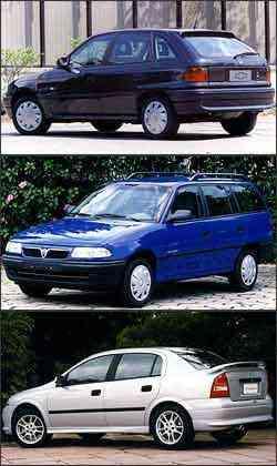 Algumas peças da primeira geração do Astra, que vinha da Bélgica com propulsor 2.0 brasileiro, são caras e difícies de serem encontradas. Perua do modelo só foi produzida na primeira geração. Lançado em 2000, o sedã da Chevrolet ainda é fabricado - Arquivo/EM/D.A Press