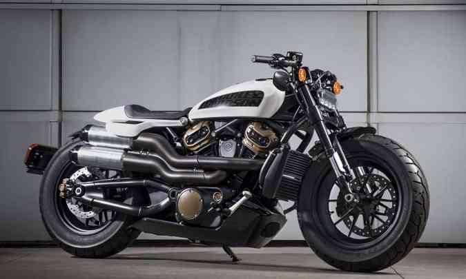 A custom esportiva conta com motor de dois cilindros de 1.250cm³(foto: Harley-Davidson/Divulgação)