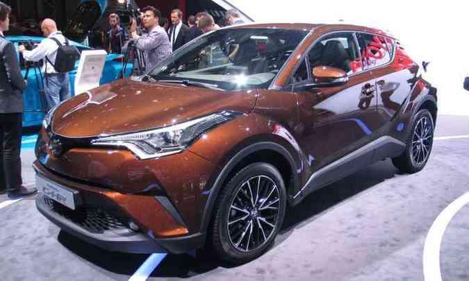 Toyota C-HR de produção, presente no Salão de Paris deste ano(foto: Enio Greco/EM/D.A Press)