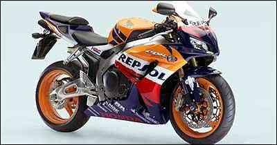 Réplica da Repsol ostenta a mesma pintura da campeã de Moto GP, inclusive com patrocinadores - Fotos: Honda/Divulgação - 31/10/06