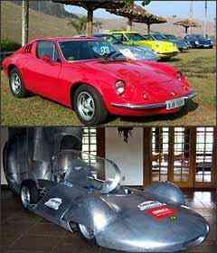 Alguns exemplares do Puma também marcaram presença na mostra. Réplica do Carcará, modelo que bateu primeiro recorde de velocidade brasileiro -