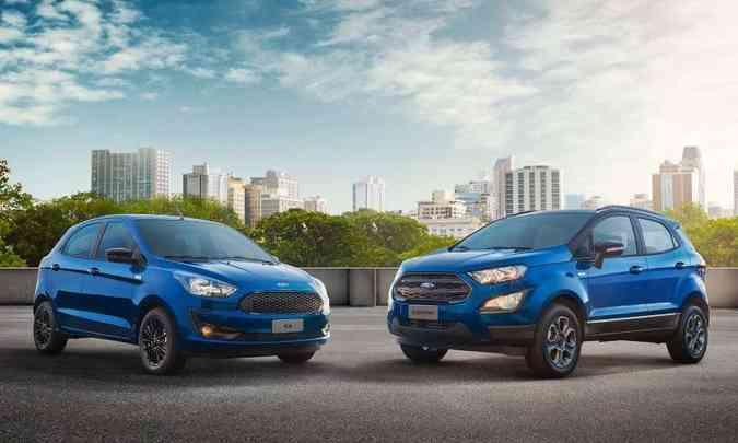 Em 2019, quando comemorou 100 anos de presença no Brasil, a Ford lançou versão comemorativa para o Ka e EcoSport(foto: Ford/Divulgação)