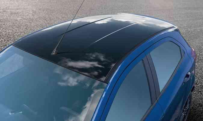 Teto em preto é um dos diferenciais da série limitada(foto: Ford/Divulgação)