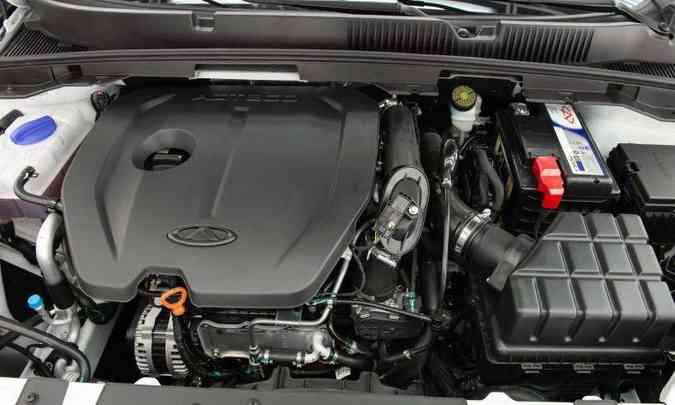 O motor é o já conhecido 1.5 flex, 16V, que desenvolve potência máxima de 150cv e 21,4kgfm de torque(foto: Caoa Chery/Divulgação)