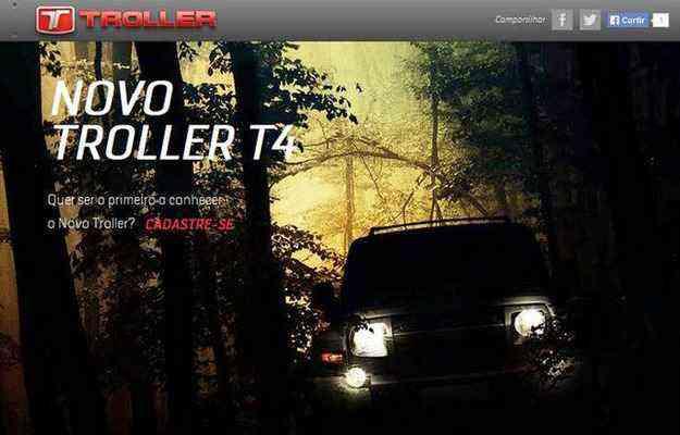 No site do jipe, é possível cadastrar-se para acompanhar novidades - Troller/divulgação
