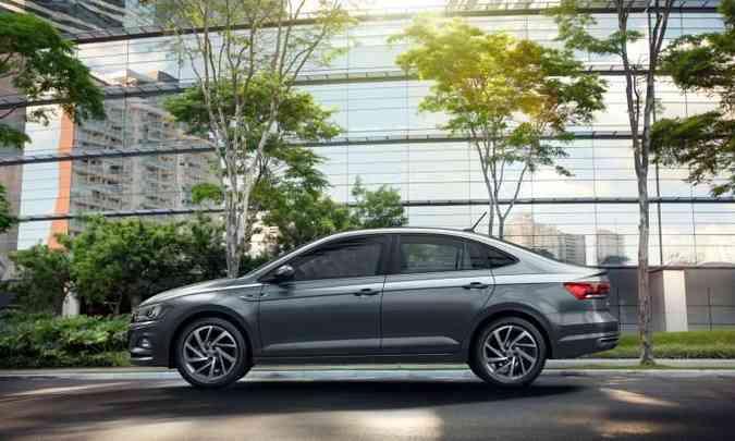 Modelo tem a linha de cintura suavemente elevada(foto: Volkswagen/Divulgação)