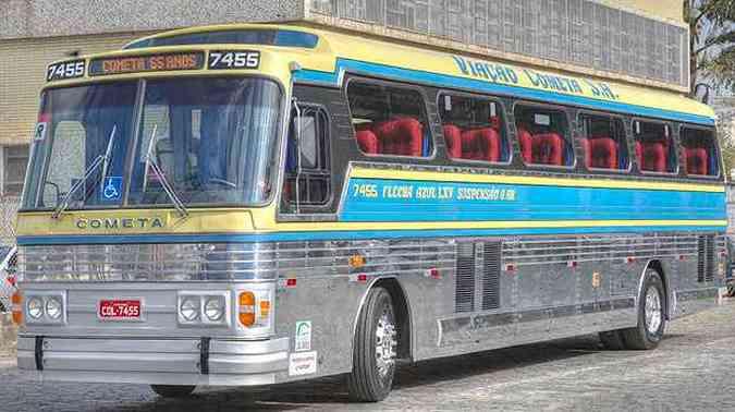 Ônibus clássico Flecha Azul é reformado para viagens pelo Brasil(foto: Divulgação)