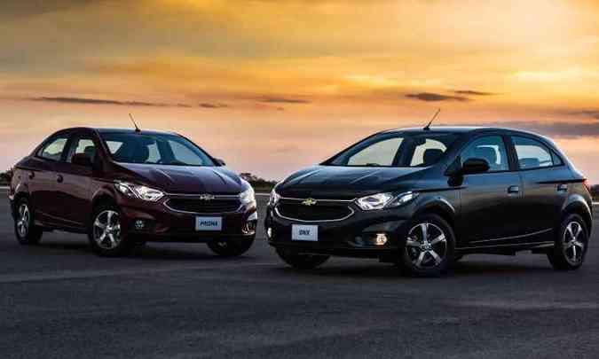 Preços partem de R$ 53.690 para o Prisma e R$ 44.890 para o Onix(foto: General Motors/Divulgação)
