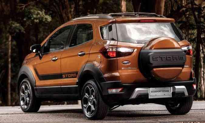 Cobertura do estepe traz o nome da versão(foto: Ford/Divulgação)