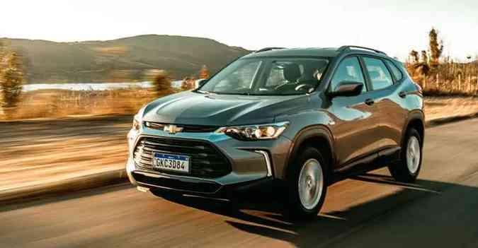 Chevrolet Tracker vem apresentando uma crescente de vendas, mas não dará tempo de desbancar concorrentes(foto: Jorge Lopes/EM/D.A Press)