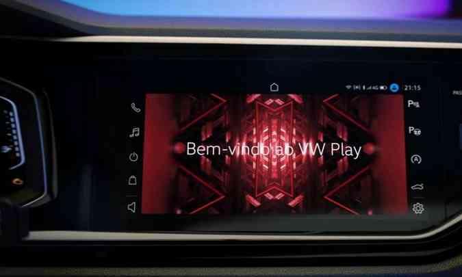 O VW Play promete mais facilidade na conectividade e livre opção de escolha por aplicativos(foto: Volkswagen/Divulgação)