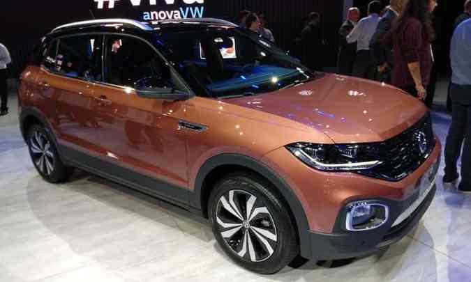 O SUV compacto Volkswagen T-Cross terá as opções de motores 1.0 TSI e 1.4 TSI(foto: Pedro Cerqueira/EM/D.A Press)
