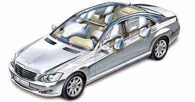 Evolução dos sistemas de segurança possibilitou o uso do airbag em vários pontos - Mercedes-Benz/Divulgação