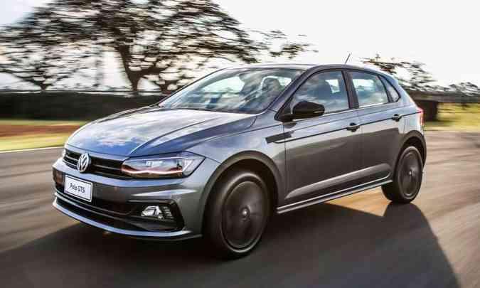 Polo GTS vem equipado com motor 1.4 turbo tem 150cv de potência 25,5kgfm de torque(foto: Volkswagen/Divulgação)