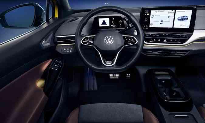 O interior de ambos promete sofisticação no acabamento e muita tecnologia à disposição(foto: Volkswagen/Divulgação)