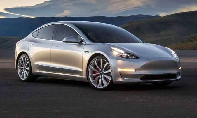 Model 3 chega ao Brasil em 2017(foto: Tesla/Divulgação)