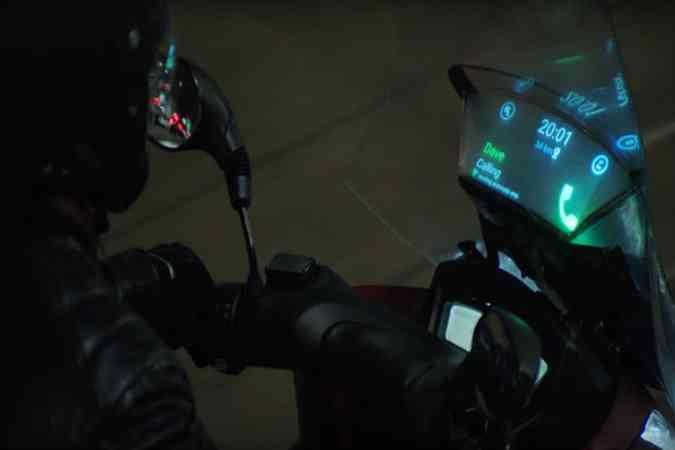 Dispositivo criado pela Samsung e Yamaha projeta informações no parabrisa(foto: Samsung/Divulgação)