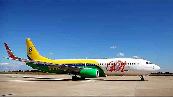 Boeing 737-800 da Gol que foi usado pela Seleção na Copa das Confederações (foto: Gol/Divulgação)