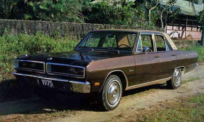O luxuoso Dodge Dart Gran Sedan 1975(foto: Editora Abril/Divulgação)