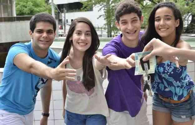 (Na ordem) Tarcísio, Juliana, João e Ruth acreditam que habilitação traz mais liberdade - Cristiane Silva/Esp.DP/D.A Press