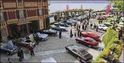Vista geral do Concorso d'Eleganza Villa. Este, em Cernobbio -