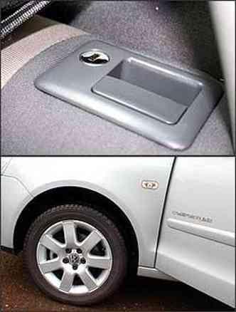 Detalhe interessante: banco traseiro tem chave. Já as rodas em liga leve são de 15 polegadas
