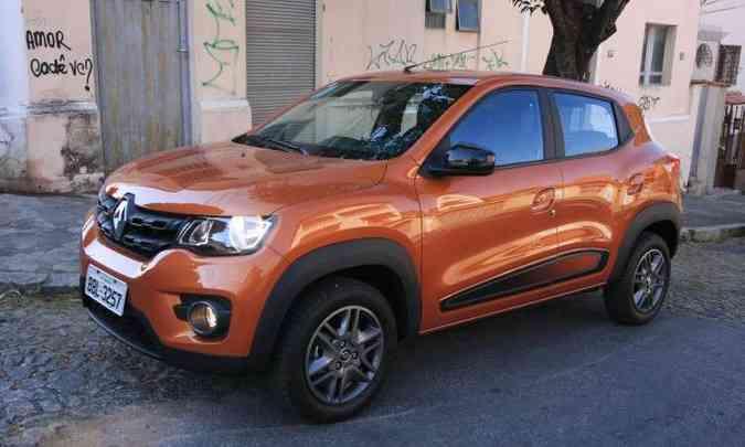 Renault Kwid chegou fazendo barulho por causa do preço, mas não deslanchou(foto: Edésio Ferreira/EM/D.A Press)