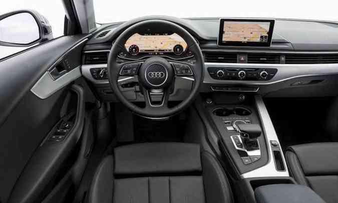 Quadro de instrumentos digital configurável de 12,3 polegadas se destaca no painel(foto: Audi/Divulgação)