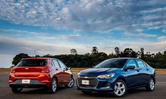 O novo Chevrolet Onix foi lançado e pouco depois passou por campanha de recall por causa de incêndio(foto: Chevrolet/Divulgação )