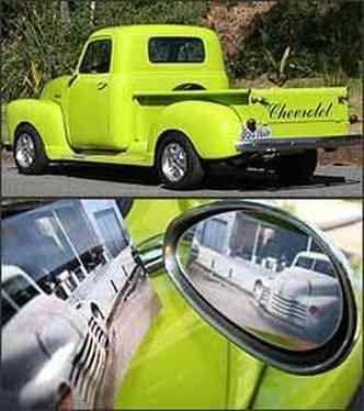 Para caracterizar o estilo hot rod, veículo ganhou rodas de alumínio diamantadas, aro 15 polegadas as mesmas da Chevrolet D20. Foto registra o veículo antes da transformação