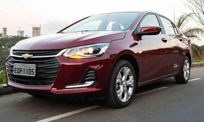 Chevrolet Onix teve 8.946 unidades emplacadas em outubro, mas recall pode afetar seu desempenho nas vendas(foto: Jorge Lopes/EM/D.A Press)