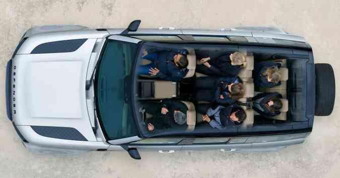 Qualquer versão pode ganhar a terceira fileira de assentos, passando a levar sete pessoas(foto: Land Rover/Divulgação)