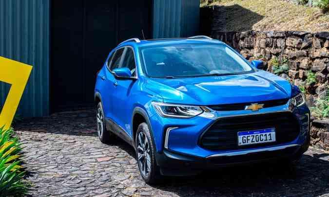 O Chevrolet Tracker foi o SUV mais vendido em setembro, mas está na quinta posição do ranking no ano(foto: Jorge Lopes/EM/D.A Press)