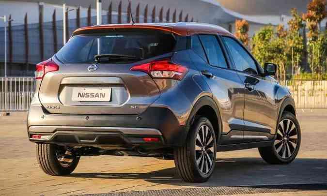 Visual repleto de recortes segue estilo mundial da Nissan(foto: Nissan/Divulgação)