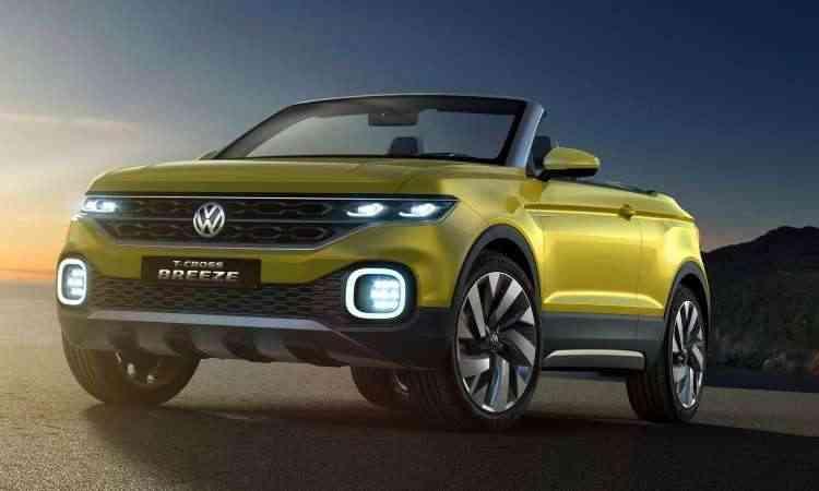 O conceito T-Cross Breeze, apresentado em 2016, já revelava as linhas do utilitário-esportivo - Volkswagen/Divulgação