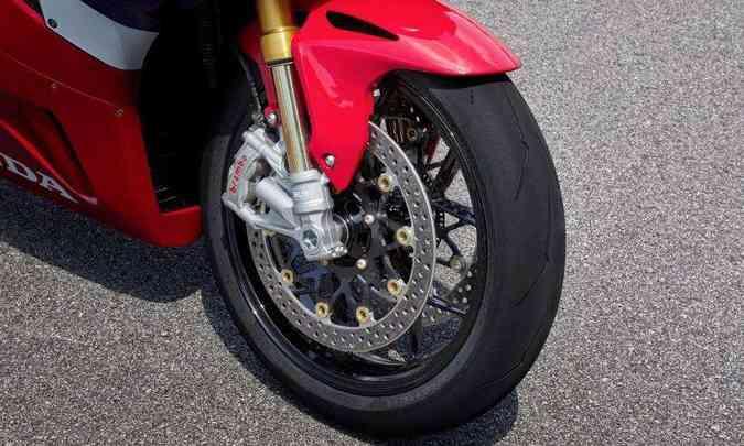 Os freios da versão SP são da grife Brembo de última geração(foto: Honda/Divulgação)