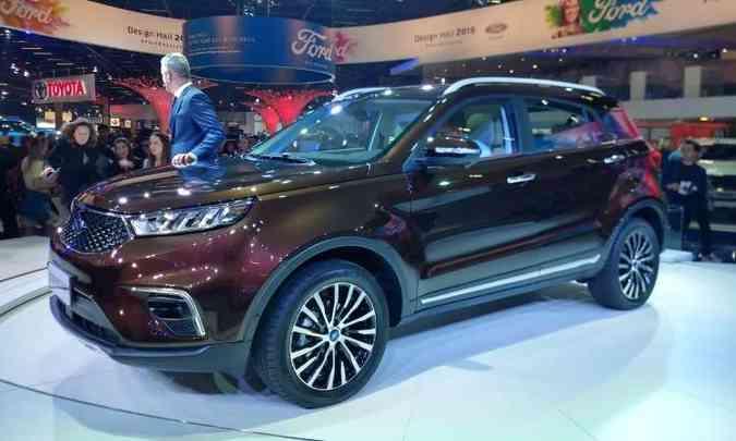 O conceito Ford Territory foi desenvolvido na China e será o novo SUV global da marca(foto: Pedro Cerqueira/EM/D.A Press)
