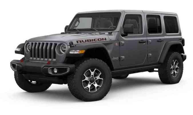 Um dos destaques do Wrangler Rubicon é a suspensão mais elevada e bons ângulos de entrada e saída(foto: Jeep/Divulgação)